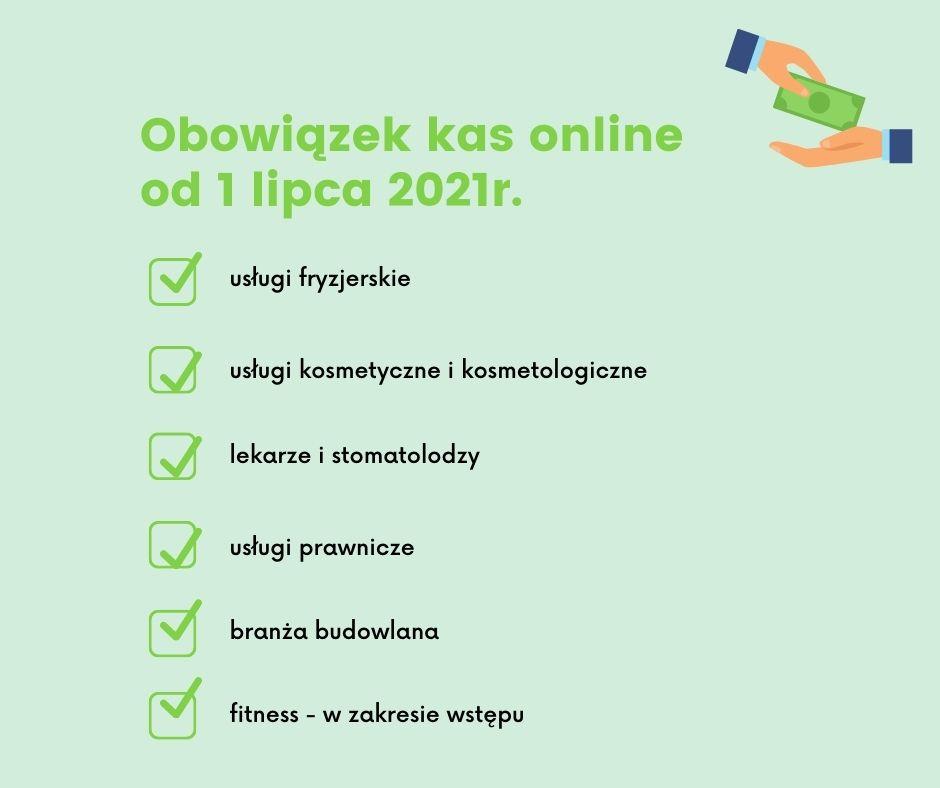 Obowiązek wprowadzenia kas online od 1 lipca 2021